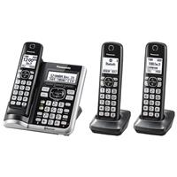 Panasonic KX-TGF573S Link2Cell Bluetooth Cordless Phone with Answering Machine & 3 Handsets