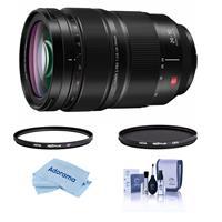 Image of Panasonic Lumix S PRO 24-70mm F/2.8 L-Mount Lens - Bundle With Hoya NXT Plus 82mm 10-Layer HMC UV Filter, HOYA 82mm NXT Circular Polarizer Filter, Cleaning Kit, Microfiber Cloth
