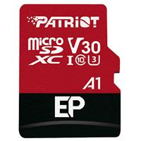 Image of Patriot Memory EP Series 128GB Micro SDXC V30 A1 UHS-I U3 4K UHD Memory Card with SD Adapter, 90MB/s Read, 80MB/s Write
