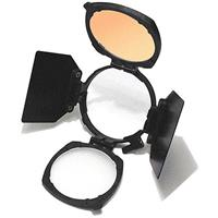 Image of Pag Rotatable Accessory Kit for light Camera Light, Includes LED to Halogen Filter, (2) Parallel Barn Doors, Rotatable Accessory Holder & Diffuser