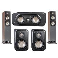 "Polk Audio 2 Pack Signature Series S50 37.4"" Home Theater Tower Speaker - Bundle With Polk Audio S30 Home Theater Center Speaker Single, Polk Audio S10 Home Theater Compact Satellite Surround Speakers Pair"