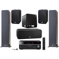 "Polk Audio 2x Signature Series S50 37.4"" Home Theater Tower Speaker, Polk Audio Signature Series S30 Home Theater Center Speaker, Polk Audio Signature Series S10 Home, Pair, Polk Audio HTS 10 10"" Subwoofer with Power Port Technology, Yamaha RX-V485 7.2-Channel AV Receiver with MusicCast"