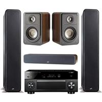 "Polk Audio Polk Audio 2 X Signature Series S55 41.5"" Home Theater Tower Speaker + Polk Audio S15 Small Home Theater Compact Bookshelf Speakers, Pair + Polk Audio S35 Home Theater Slim Center + Yamaha RX-V2085 Ultra HD 4K 9.2-Channel Network AV Receiver, Dolby Atmos, Black"