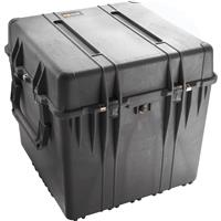 """Pelican 0370 Watertight Hard 24"""" Cube Case with Foam Insert, Charcoal Black Product image - 338"""