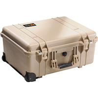 Pelican 1560 Watertight Hard Case with Cubed Foam Interior & Wheels - Dessert Tan Product image - 1592