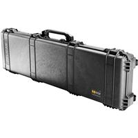 """Image of Pelican 1750 Long Case, 50"""" Watertight Weapons Case with Wheels, Without Foam Inserts - Black"""