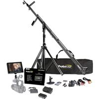 "ProAm Orion 8' DVC210 DSLR Crane Production Package, Includes Crane Stand, Crane Carrying Bag, 7"" LCD HD2 Monitor Kit, LCD Sunshade"