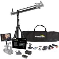 "ProAm Orion Jr 4' DVC50 Camera Crane Production Package, Includes Crane Stand, Crane Carrying Bag, 7"" LCD Monitor Kit, LCD Sunshade"
