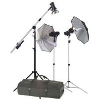 Photogenic StudioMax III AC Traveling Studio 3-Light Boom Kit with 2 AKC 320 & 1 AKC160 Constant Product image - 723