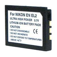 Image of Power2000 EN-EL2 Replacement Lithium-Ion Rechargeable Battery 3.7v 1200mAh for Select Nikon Digital Cameras