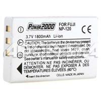 Image of Power2000 NP-120 3.7V 1800mAh Replacement Rechargeable Lithium-Ion Battery for Fujifilm FinePix Digital Cameras