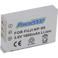 Image of Power2000 NP-95 Replacement Lithium-Ion Rechargeable Battery 3.6v 1800mAh for Fujifilm FinePix Digital Cameras
