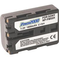 Image of Power2000 NP-FM55H Replacement 7.2v, 1800mAh Lithium Ion Battery for Sony NP-FM55H Camera Battery
