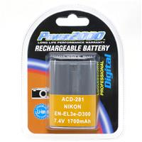 Image of Power2000 EN-EL3E Replacement Lithium-Ion Rechargeable Battery 7.4v 1700mAh for Select Nikon Digital Cameras