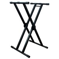 Image of ProX X-KSD200 Double X Style DJ Case/Keyboard Stand with Ergo Easy Lock, 350 lb Capacity