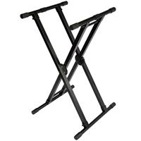 Image of ProX X-KSD22 Double X-Style DJ Coffin/Keyboard Stand with Ergo Easy Lock, 150 lb Capacity