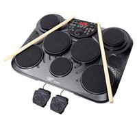 Image of Pyle PTED01 Electronic Table Top Drum Kit, 7 Drum Pads with Touch Sensitivity