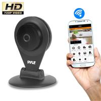 Image of Pyle PIPCAMHD22 1MP 720p HD Indoor Wireless IP Network Camera with 3.6mm Lens, 30 fps, 32' Night Vision, H.264, MJPEG, Black