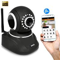 Image of Pyle PIPCAMHD82 2MP 1080p Full HD Indoor Wireless P2P Network Camera with 3.6mm Lens, 30 fps, 33' Night Vision, H.264, MJPEG, Black