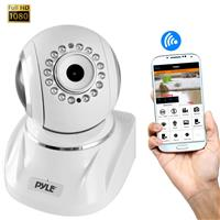 Image of Pyle PIPCAMHD82 2MP 1080p Full HD Indoor Wireless P2P Network Camera with 3.6mm Lens, 30 fps, 33' Night Vision, H.264, MJPEG, White