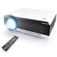 Pyle PRJLE82H Home Theater Digital Video LED Projector with Built-In Speakers, 1280x768, 2700 Lumen, 1080p Support
