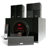 Pyle PT589BT Bluetooth 5.1-Channel 300W Home Theater System, Includes Receiver with Subwoofer, Center Channel Speaker & 4x Directable Satellite Speakers