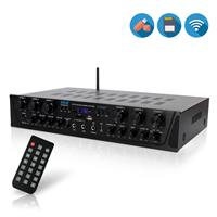 Pyle PTA66BT 6-Channel 600W Bluetooth Home Audio Stereo Amplifier Receiver System