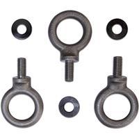 Image of QSC M10 Forged-Shoulder Steel Eyebolt Kit for Suspending KW Series Loudspeakers, 3 Pack