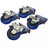 RCF Wheel Kit with 4x Locking Casters for Subwoofers, 264 lbs Capacity Per Wheel