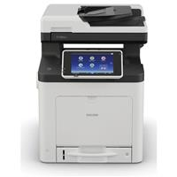 Ricoh Ricoh SP C360SFNw All-in-One LED Color Laser Printer, 30ppm, 2400x600 dpi, 350 Sheet Standard Input - Print, Copy, Scan, Fax
