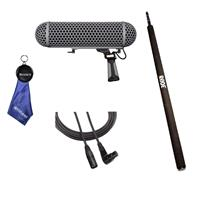 Image of Rode Microphones Blimp, Windshield / Shock Mount for NTG-1, NTG-2, NTG-3 Microphones - With XLRF-XLRM Balanced Cable, 20', Rode Micro Boompole for Microphones, Fiber Optic Cloth