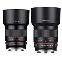 Image of Rokinon 35mm f/1.2 High Speed Wide Angle Lens for for Fujifilm X Mount - WITH Rokinon 50mm f/1.2 Manual Focus Lens for Canon EOS M Series Cameras Black