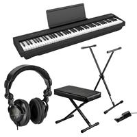 Image of Roland FP-30X 88 Keys SuperNATURAL Portable Digital Piano, Black Bundle with H&A Studio Monitor Headphones, Keyboard Stand, Bench and Sustain Pedal