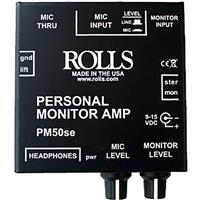 Rolls PM50S Personal Monitor Amplifier with 90dB Signal to Noise Ratio, 20Hz - 20kHz Bandwidth