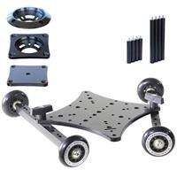 Image of RigWheels RigSkate 2 Camera Skater Dolly Complete Kit, Includes Carriage with Wheels, Mitchell Plate, 75mm Adapter Bowl and 100mm Adapter Bowl, 100 Lbs Capacity