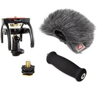 Image of Rycote Portable Recorder Audio Kit for Zoom H1 Digital Recorder, Includes Suspension Mount, Mini Windjammer, Extension Handle, Swivel Adapter