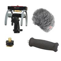 Image of Rycote Portable Recorder Audio Kit for Zoom H6 Digital Recorder, Includes Suspension Mount, Mini Windjammer, Extension Handle, Swivel Adapter