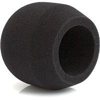 Image of Rycote 104424 102 Large Diaphragm Mic Foam Windscreen for Neumann TLM 102 Foam, Single, Black