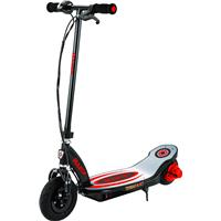 Image of Razor Power Core E100 Electric Scooter with Aluminum Deck, 11mph Top Speed, Black/Red
