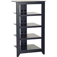 "Sanus Systems NFA245 45"" Tall 4-shelf Audio Stand, Black"