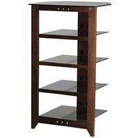 "Sanus Systems NFA245 45"" Tall 4-shelf Audio Stand, Mocha"