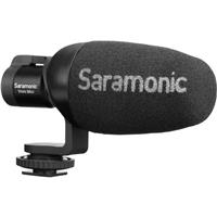 Image of Saramonic Vmic Mini Compact Camera-Mount Shotgun Microphone with Shockmount for DSLR/Mirrorless/Video Cameras, Smartphones and Tablets