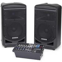 Image of Samson Expedition XP800 800W Portable PA System with Bluetooth, Includes Dual 2-way Speakers, Onboard Mixer, 800W Amplifier