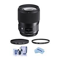 Image of Sigma 135mm f/1.8 DG HSM IF ART Lens for Nikon DSLR Cameras - Bundle With Hoya NXT Plus 82mm HMC UV Filter, Hoya NXT Plus, 82mm HMC Circular Polarizer Filter, Cleaning Kit, Microfiber Cloth