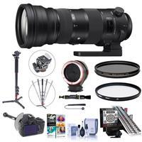 Image of Sigma 150-600mm F5-6.3 DG OS HSM Sport Lens for Canon EF - Bundle w/LensAlign MkII Focus Calibration System, 4-Section Aluminum Monopod, Peak Lens Changing Kit Adapter, FocusShifter, And More