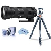 Image of Sigma 150-600mm F5-6.3 DG OS HSM Sport Lens for Nikon DSLR Cameras - Bundle With Vanguard Alta Pro 264AT Tripod and TBH-100 Head with Arca-Swiss Type QR Plate, Cleaning Kit, MicroFiber Cloth