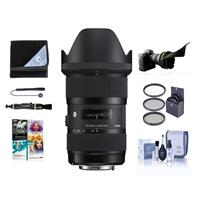 Image of Sigma 18-35mm F/1.8 DC HSM ART Lens for Nikon Digital SLR Cameras USA Warranty - Bundle with 72mm Filter Kit, Flex Lens Shade, Cleaning Kit, Cap Leash, Lens Wrap, Lenpen Lens Cleaner, PC Software