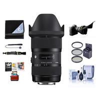 Image of Sigma 18-35mm F/1.8 DC HSM ART Lens for Nikon Digital SLR Cameras USA Warranty - Bundle with 72mm Filter Kit, Flex Lens Shade, Cleaning Kit, Cap Leash, Lens Wrap, Lenpen Lens Cleaner, Mac Software