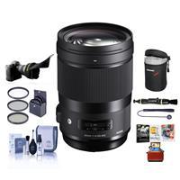 Image of Sigma 40mm f/1.4 DG HSM ART Lens for Nikon DSLR Cameras - Bundle With 82mm Filter Kit, Lens Case, Flex Lens Shade, Cleaning Kit, Lens Cleaner, Capleash, Mac Software Package