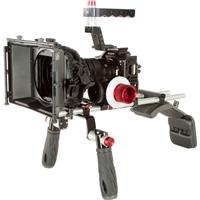 Image of Shape Shoulder Mount Cinema Kit for Sony a7S II, a7R II and a7 II Camera, Includes Cage, 2x 15mm Rod System, Matte Box 4x4, Friction & Gear Follow-Focus Clic and Mini Composite Shoulder Pad